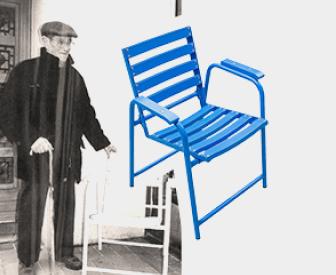 Fabbricazione dellamitica Sedia Blu (chaise bleue) della Promenade des Anglais a Nizza (F)